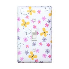 Butterly Flower Light Switch Plate Cover / Single / by SSKDesigns, $16.00