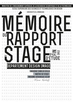 Rapport de stage mise en page on Behance