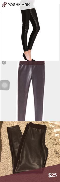 Joe Fresh Burgundy Faux Leather Leggings The main pic is the same leggings in black as an example.  Faux leather in front. Brand new, never worn. Joe Fresh Pants Leggings