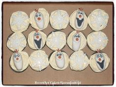 Frozen Cake, Olaf Frozen, Cupcake Toppers, Cupcake Cakes, Olaf Cupcakes, Sweetarts, Icing, Connect, Cake Decorating