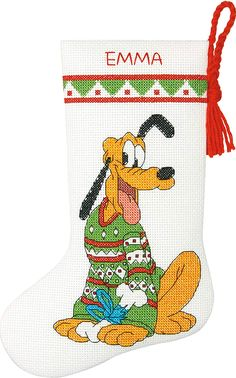 Yarn for crochet and knitting projects - Ben Franklin Crafts store, Monroe, WA Disney Stockings, Christmas Stockings, Disney Christmas, Christmas Cross, Cross Stitch Stocking, Stocking Pattern, Disney Crafts, Xmas Ornaments, Frame Shop