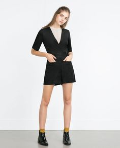 Image 1 of SHORT JUMPSUIT WITH BELT from Zara