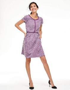 Boden Clementine Jacquard Dress Dark Lilac/Lilac Women Weve used our irresistible dotty jacquard - in four new colours for Autumn/Winter - for this flattering, feminine dress. The solid trim and exposed back zip add definition. http://www.MightGet.com/april-2017-1/boden-clementine-jacquard-dress-dark-lilac-lilac-women.asp