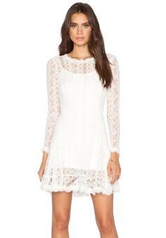heartLoom Duffy Dress in Eggshell | REVOLVE