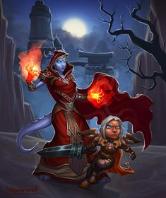 gnome warr and draenei mage at Karazhan by VanHarmontt on DeviantArt World Of Warcraft Wallpaper, D D Characters, Fictional Characters, Female Art, Gnomes, Comic Art, Fantasy Art, Character Design, The Incredibles