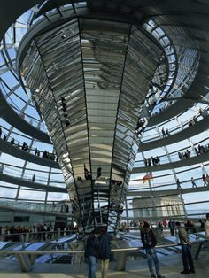 Reichstag Building, designed by Norman Foster, Berlin, Germany