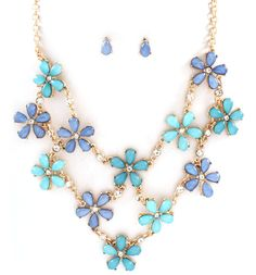 Sybella Necklace in Blues on Emma Stine Limited