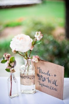 bud vases and pretty paper