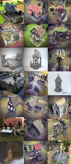 TIME WARP featuring Rampage Castle and detailed game-ready buildings from Europe and the Americas designed for your home 3D Printer