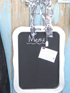 Chalkboard paint on a cooking sheet