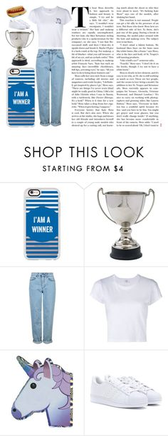 """""""Winner"""" by annnnnnnnnn ❤ liked on Polyvore featuring Casetify, Dot & Bo, Topshop, RE/DONE and adidas"""