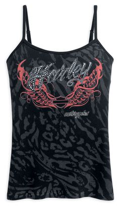 WOMENS HARLEY-DAVIDSON ALLOVER PRINT CAMI TANK WITH SIZE SMALL 96292-12VW | eBay