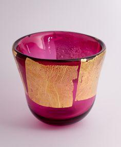 James Fletcher. Wine red with gold leaf. #glass #art #artist #natureart #inspiration #homedecor #handmade #interiordesign #decoration