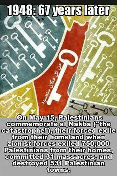 #Nakba67 #Nakba2015 #RightOfReturn #FreePalestine #EndTheOccupation
