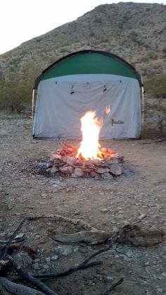 Desert Camping in fall