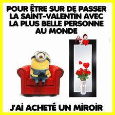 Seul(e) pour la St Valentin ... les Minions ont une idée !