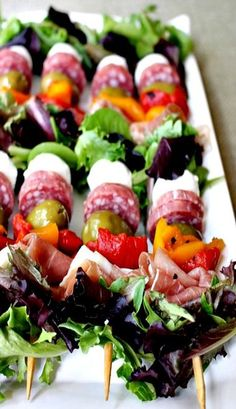 Birt's Bistro serves fresh, scrumptious food 7 days a week, 7 AM-3PM.  Join us Wednesday and Friday nights 5:00-6:30 for live music!  http://www.birtsbistro.com #BirtsBistro  While there, check out Benevilla.Antipasto Kabobs