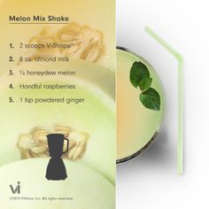 Honeydew melon, raspberries and powdered ginger ViSalus shake? Irresistible.