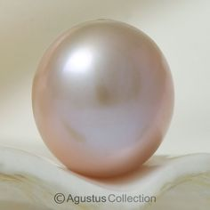 NATURAL-Color Metallic Highly Iridescent Freshwater PEARL OVAL Mauve China 1.93 #Unbranded