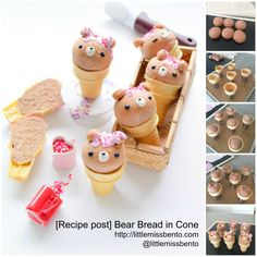 Recipe Bear Bread in Ice Cream Cone