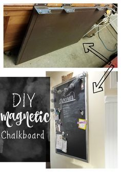 What to do when you want an expensive home item?  You find a way to make it yourself.  This DIY Magnetic Chalkboard is exactly what we wanted for our home décor.  We took a panel found at the ReStore and upcycled it to this Chalkboard.  We have the list of instructions on our site.  Budget friendly too!b - Salvage Sister and Mister