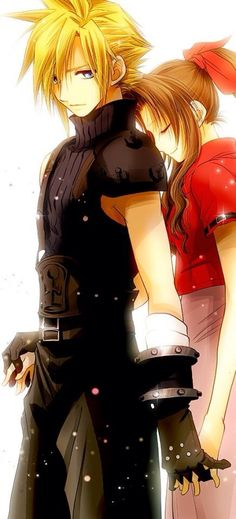 Cloud & Aerith - Why am I torturing myself T-T with these pics
