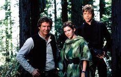 Star Wars: Return of the Jedi - Harrison Ford, Mark Hamill and Carrie Fisher Mark Hamill, Film Star Wars, Star Wars Cast, Star Trek, Harrison Ford, Carrie Fisher, Bristol, Starwars, Michael Arndt