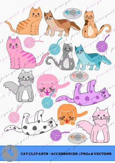 Excited to share the latest addition to my #etsy shop: cat clip art,cat svg,cat clip art,cat vector,cat prints,cat printables,cat svg files,cat svg designs,cat clip arts,cats svg http://etsy.me/2jHVvhe