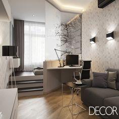 Apartamento é composto por cômodos integrados para aproveitar ao máximo a área de cada ambiente.