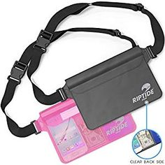 Waterproof Fanny Pack Pouch Pack) for Men & Women Dry Bag Water Resistant with Adjustable Waist Strap - Protects Valuables at Water Sports Or Boating Snorkeling Swimming Skiing Waist Pouch, Belt Pouch, Waterproof Fanny Pack, Boat Safety, Running Belt, Clear Bags, Water Sports, Snorkeling, Packing