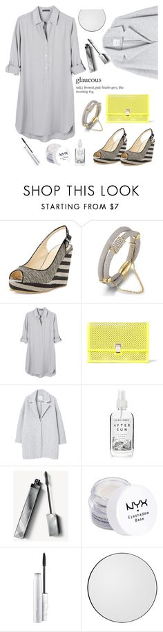 """""""glaucous"""" by felicitysparks ❤ liked on Polyvore featuring Jimmy Choo, Sevil Designs, United by Blue, Proenza Schouler, MANGO, Herbivore, Burberry and NYX"""