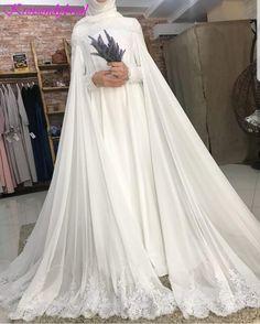 Romantic Long Sleeve Wedding Dress - Eternally Yours Custom Bridals Muslim Wedding Gown, Hijabi Wedding, Muslimah Wedding Dress, Hijab Bride, Muslim Brides, Pakistani Wedding Dresses, Elegant Wedding Dress, Best Wedding Dresses, Bridal Dresses