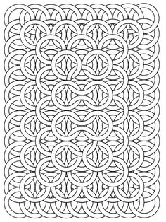 Get the coloring page: Circle loops