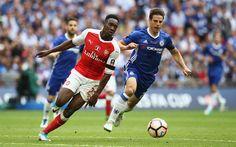 Download wallpapers Danny Welbeck, English footballer, Arsenal, London, Premier League, football