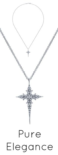 The splendor of diamonds in a beautiful and attainable white gold cross necklace.
