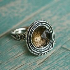 Mocha Ring- sterling silver and smoky quartz!  Our newest collection of rings are in :) #rings#sterlingjewelry
