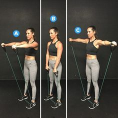 Yoga Fitness Plan - resistance band workout - Get Your Sexiest. Body Ever!…Without crunches, cardio, or ever setting foot in a gym! Sixpack Women, Posture Corrector For Women, Fitness Motivation, Fitness Plan, 20 Minute Workout, Resistance Band Exercises, Resistance Workout, Stretch Band Exercises, Resistance Band Arms