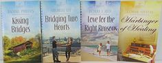 Heartsong Romance Novel Four Book Set Bundle Collection, Includes: Harbinger of Healing - Love for the Right Reasons - Kissing Bridges - Bridging Two Hearts Connie Stevens, Resale Store, Two Hearts, Romance Novels, Kissing, Bridges, Textbook, Household, Healing