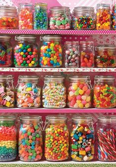 Candy Shelf 500 pc puzzle is part of Candy - Available in Item Rows upon rows of delicious candy! Indulge your sweet tooth with this highquality 500 piece puzzle from Cobble Hill Manufactured in Candy Buffet, Candy Jars, Candy Table, All Candy, Bar A Bonbon, Junk Food Snacks, Savoury Cake, Jelly Beans, Candyland