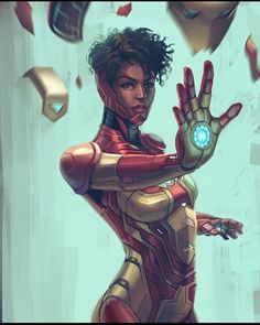 Riri Williams - Iron Heart If anyone know who the artist is on this piece I'm dying to figure it out! Marvel Comic Universe, Marvel Dc Comics, Marvel Heroes, Marvel Cinematic Universe, Batman Universe, Marvel Girls, Comics Girls, Black Characters, Marvel Characters