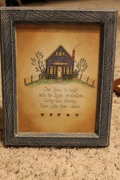 Blue Home Frame/Wall Decor Americana & Country Theme by ahindle78, $14.00
