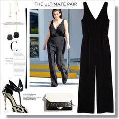 what accessories to wear with a black jumpsuit 2