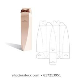 Box Template : images, photos et images vectorielles de stock Packaging Dielines, Box Packaging, Packaging Design, Diy Gift Box, Diy Box, Diy Gifts, Cardboard Box Crafts, Paper Crafts Origami, Paper Box Template