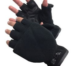 Glacier Glove *Cold River Flip Mitt -709BK* Premium windproof fleece, synthetic leather palm, flip mitt design