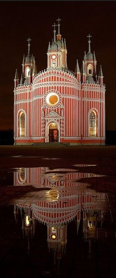 The church of Saint John the Baptist at Chesme Palace,  St. Petersburg, Russia