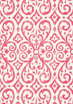 Patara Ikat #wallpaper in #fuschia from the Caravan collection. #Thibaut
