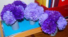 Tissue Paper Flower Centrepieces