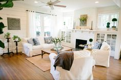 Amazing kitchen by Chip & Joanna Gaines Flip furniture layout for our FR