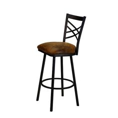 Metal Bar Stools with Back | Metal and Leather Bar Stool