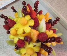 Tropical Baby Shower Fruit Ideas | Make an Edible Fruit Bouquet: Easy How To Photos